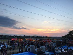 新居浜花火大会の風景