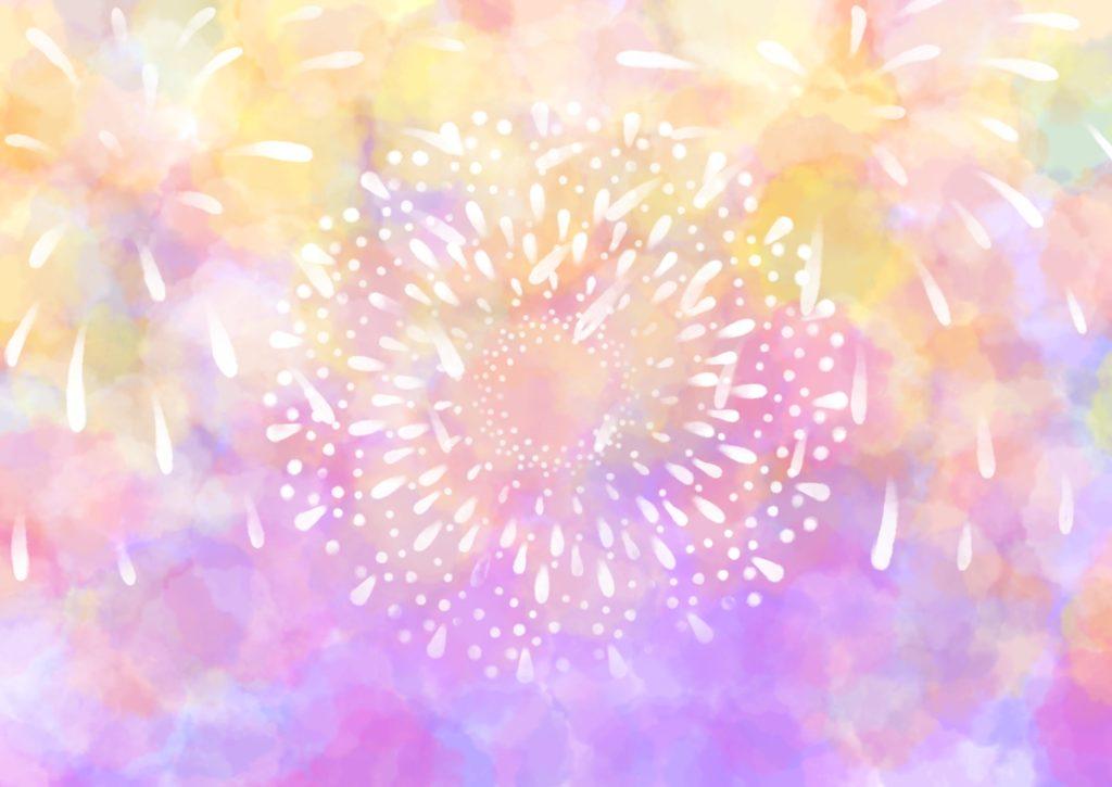 花火の水彩イラスト