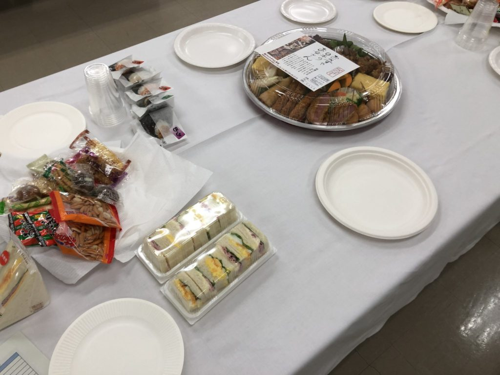 異業種交流会の軽食
